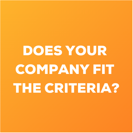 Does Your Company Fit The Criteria WE4F