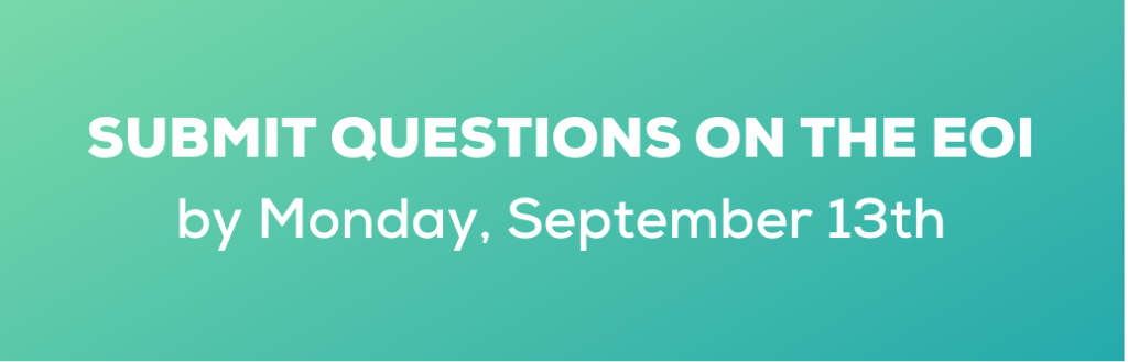 Submit EOI Questions 13 Sept 2021